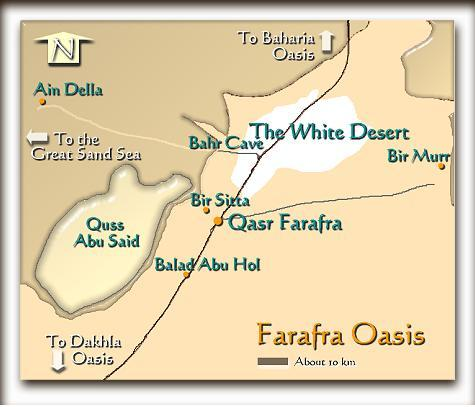 Farafra Oasis Map