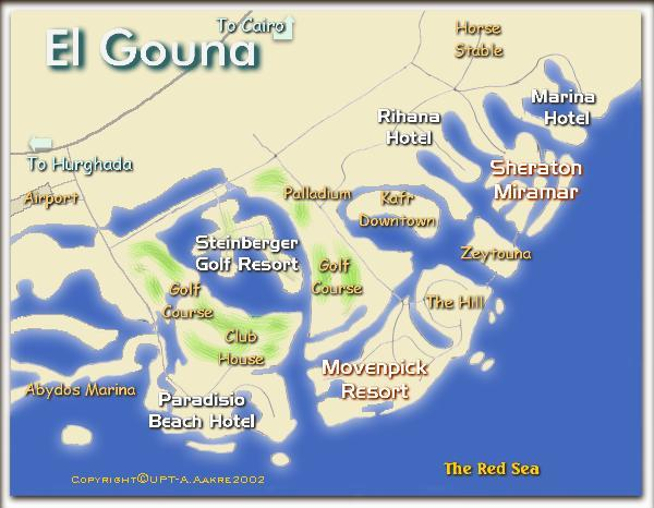 Gouna Map Of Egypt - Map of egypt hotels