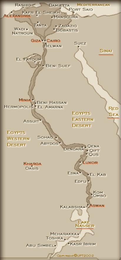 Nile Valley Map Egypt