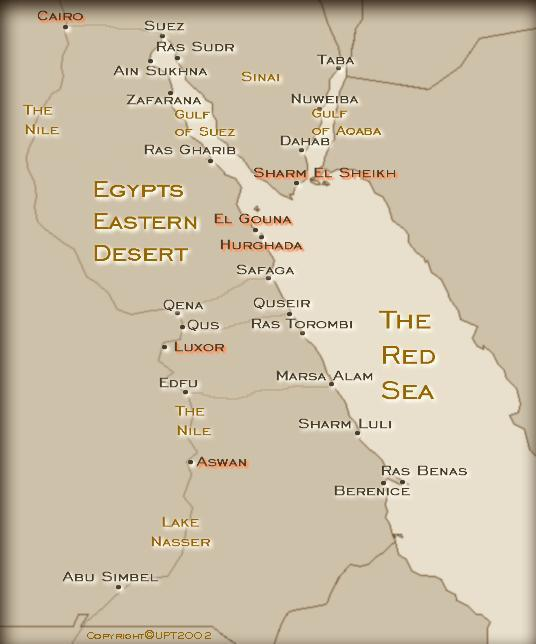 Red Sea Map Sinai map of Egypt maps